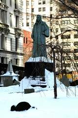 New York City, Lower Manhattan, Financial District : Trinity Church, 1846 : cemetery