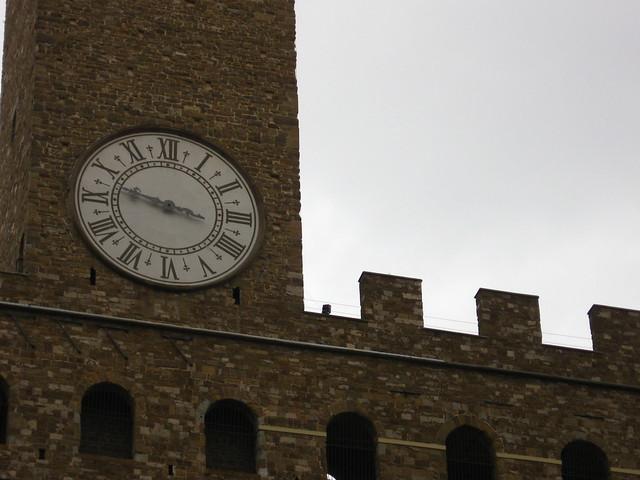 フィレンツェの時計台のフリー写真素材