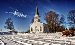 Kingscroft's Church (MarieFrance Boisvert) Tags: morning winter snow church village rh easterntownships kingscroft mygearandme mygearandmepremium