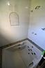 das Bad im Hostel Klein
