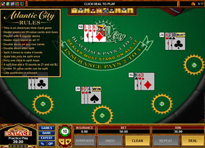 Multi-Hand Atlantic City Blackjack Rules