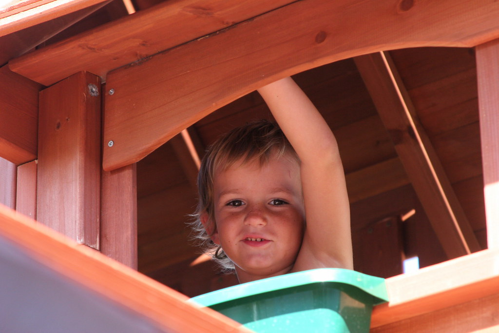 Climbing in Playhouse