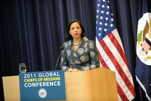U.S. Permanent Representative to the United Nations Susan Rice talks about current challenges.