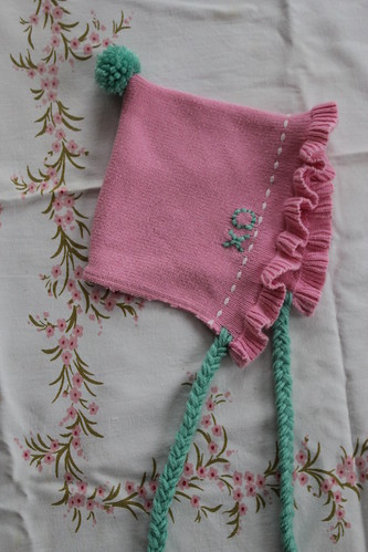 restyled bonnet-style baby beanie