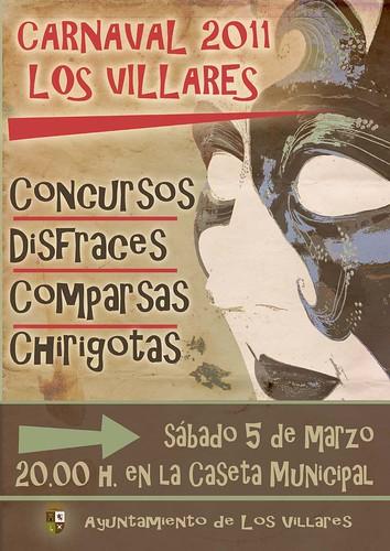 Cartel Carnaval 2011 - Los Villares