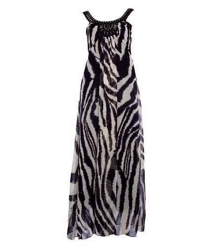 zebra print maxi dress