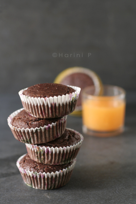 Gluten freen cocoa orange cupcakes