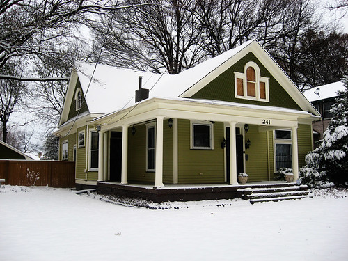 our snowy home
