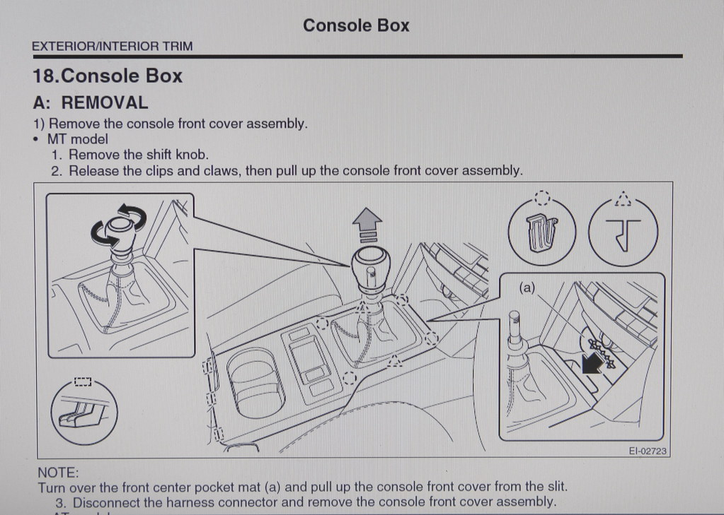 Need help removing center console/armrest - Subaru Legacy Forums