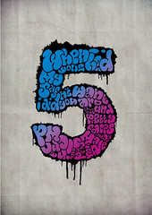 Project 10 - The 5 Final (gary|the|rough) Tags: typography graphicdesign handdrawntype project10