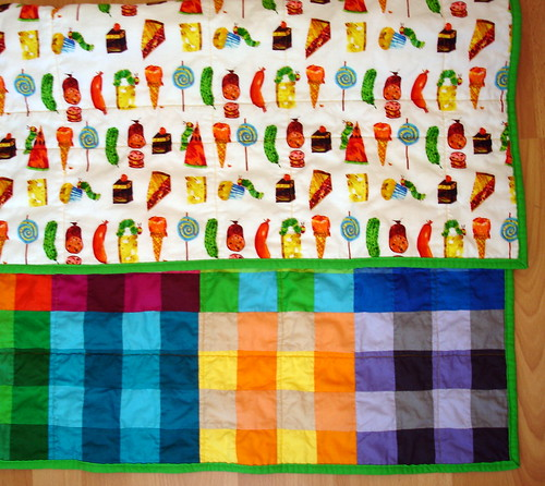 Hungry Caterpillar backing fabric