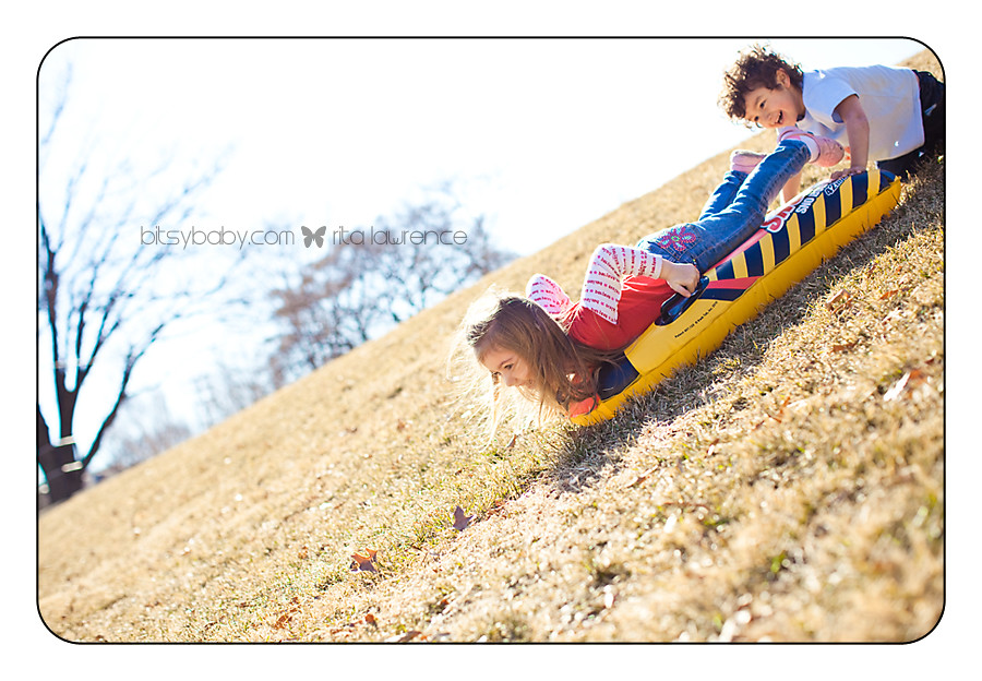 kid photography hill sliding2