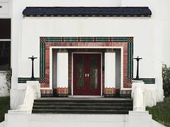 Art Deco Entrance to the Carillion Building in Brentford (Maxwell Hamilton) Tags: uk artdeco a4 brentford greatwestroad greaterlondon