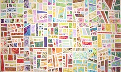 Mod Mosaic 15 blocks on design wall