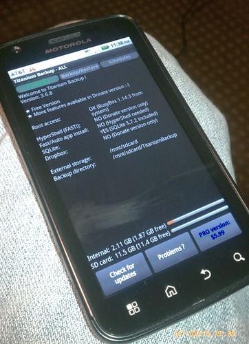Motorola Atrix 4G rooted
