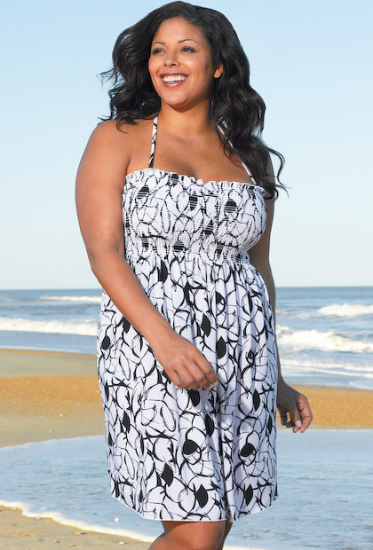 8f972e974a5 Sassy  amp  Classic Fiji Plus Size Smock Dress by Beach Belle®  (swimsuitsforall)
