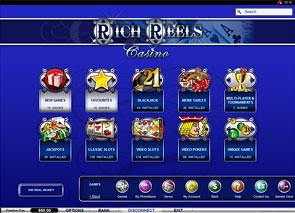 Rich Reels Casino Lobby