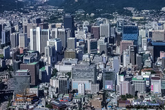 Seoul City Core from N-Seoul Tower (InSapphoWeTrust) Tags: korea seoul southkorea 2008 韓國 서울 namsan 한국 대한민국 republicofkorea nseoultower 大韓民國