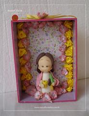 Relicrio Santa Brbara (mariafloratelier2) Tags: biscuit santo ians santabrbara relicrio