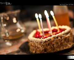44|50 - My Quarter Century (HD Photographie) Tags: birthday cake project candle pentax bokeh anniversary hd 50 anniversaire bougie projet herv gteau k7 2011 dapremont hervdapremont project50|50