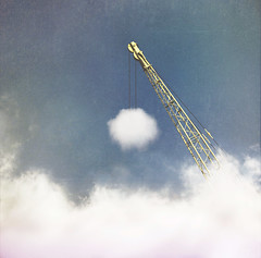 (brianoldham) Tags: sky cloud clouds construction lift crane atmosphere build making weatherman brianoldham