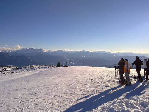 Blick gegen Süden in die Dolomiten
