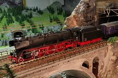 Dampflokomotive 01 der Firma ROCO mit dem Rheingold - Express der Firma Lilliput  auf einem Modell der Gotthard Nordrampe der Gotthardbahn rund um die K.irche Wassen im Kanton Uri in der Schweiz (chrchr_75) Tags: hurni christoph schweiz suisse switzerland svizzera suissa swiss chrchr chrchr75 chrigu chriguhurni 1102 modell modellbahn modelleisenbahn gotthard nordrampe wassen gotthardbahn spur spurweite h0 bahn train treno zug model trains miniatures modello trein tåg de tren eisenbahn modelleisenbahnanlage anlage reusstal gleichstrom modellbahnanlage gotthardbahnhurni chriguhurnibluemailch febraur 2011 februar2011 albumzzz201102februar albummodellbahnenderschweiz modellbau