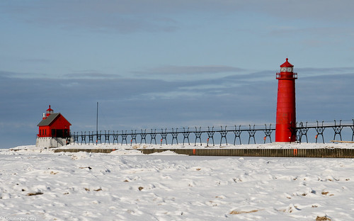Grand Haven Lighthouse At Michigan S Grand Haven State