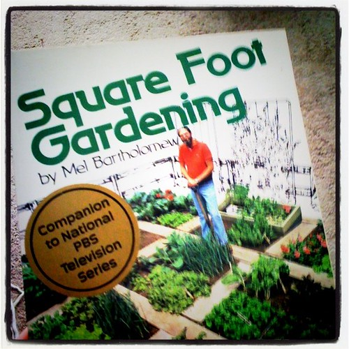 Square foot gardening. A gift from my parents
