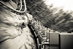 speeding thru the himalayas mountains (kevkev44) Tags: blur orlando slow ride florida action pov fast disney mount rollercoaster 1855mm coaster everest animalkingdom vekoma eticket slowshutterspeed expeditioneverest d60 onride nikond60 1855mmlens