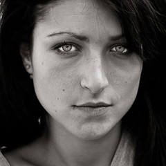 Chiara  (EXPLORE#9) (Alessandro.Rossi) Tags: portrait woman white black hair blackwhite italian naturallight explore canon5d canon50mm14 naturalillumination canonphotographer alessandrorossi absolutegoldenmasterpiece