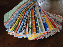 Katie jump rope stash (lindakl) Tags: fabric swaps denyseschmidt katiejumprope singlegirlquilt