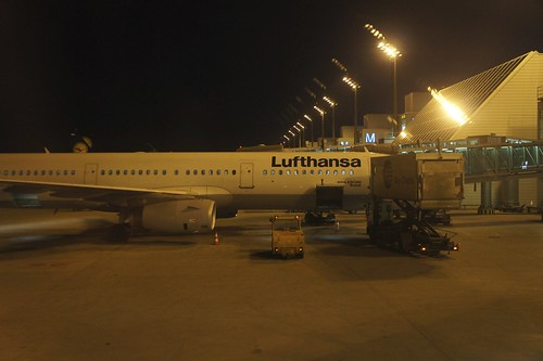 Frankfurt-Munich, Lufthansa Business class - Munich airport