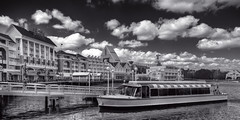 Disney's Boardwalk quadtone (hz536n/George Thomas) Tags: bw lake boat lab florida disney disneyworld boardwalk canon5d february hdr dvc quadtone smrgsbord photomatix labcolor ef24105mmf4lisusm blackwhitephotos cs5 photomatix40
