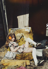 (yyellowbird) Tags: house abandoned girl illinois chair lolita cari kneesocks saddleshoes raccoonhat