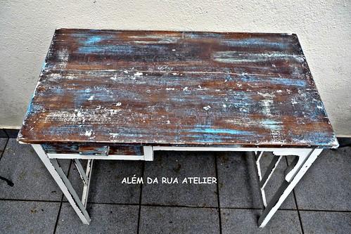 Pintura e Restauração de Móvel - Mesa em Pátina Envelhecida