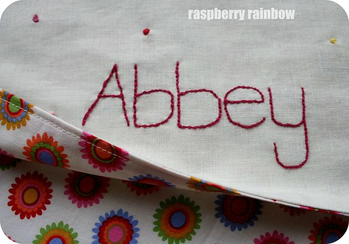 Abbey's blankie.