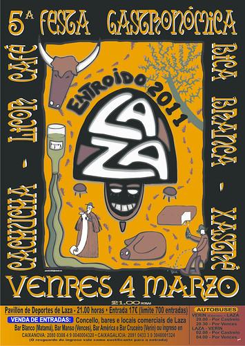 Laza 2011 - Entroido cartel cea gastronómica