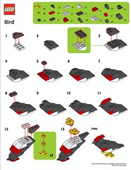 LEGO MMMB - March '11 (Bird) Instructions (TooMuchDew) Tags: holiday bird march lego vogel oiseaux legostore march11 legoimaginationcenter legoinstructions mmmb legoclub toomuchdew monthlyminimodelbuild licmoa minimodellbauevent