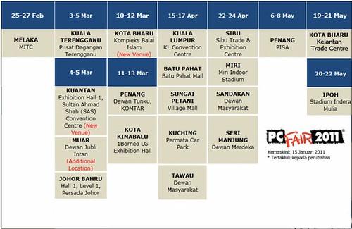 Jadual PIKOM PC Fair 2011