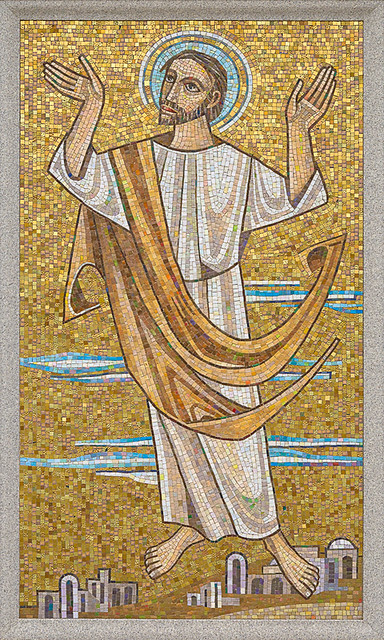 Resurrection Cemetery, in Affton, Missouri, USA - mosaic of the Ascension of Our Lord