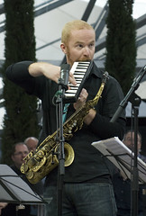Root 70 - Hayden Chisholm (lenag_photographee) Tags: world munich drums phil bass jazz double nils bmw trombone awards february sax alto jochen chisholm donkin rckert root70 wogram 2011hayden