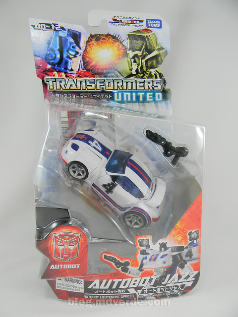 Transformers Jazz United Deluxe - caja
