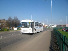 493 EXB (markkirk85) Tags: new city nottingham travel bus buses transport first ps choice alexander peterborough aardvark scania goodman 493 ardvark exb n113 k93 493exb