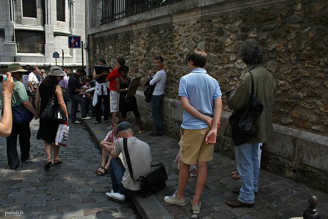 Dessinateurs de caricatures, toujours pour touristes