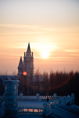 Ice and Snow World in Harbin (哈尔滨) Sunset