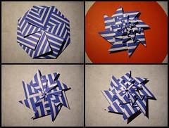 Patterned study (Dasssa) Tags: origami chrispalmer flowertower throwingstar