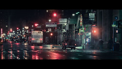 Distant City (Dj Poe) Tags: street new york city nyc cinema ny streets wet rain night canon reflections dark eos lights reflecting is dj traffic mark manhattan ii 5d usm cinematographer cinematic raining tones poe photgraphy 70200mm 2011 f28l 5dmkii 5dmk2