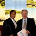 World Island Awards founder, Graham Cooke, puts the finishing touches to the contract with Dr Karl Mootoosamy, director, Mauritius Tourism Promotion Authority