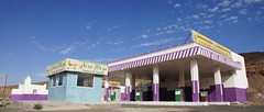 Purple petrol station (CharlesFred) Tags: saudi saudiarabia petrolstation najran